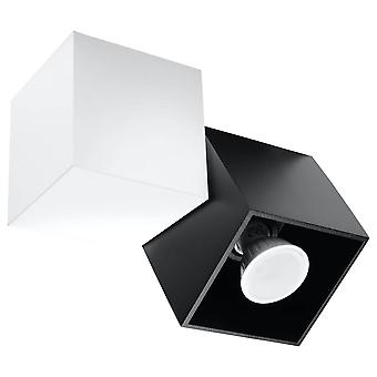 Sollux OPTIK - 1 Licht Plafond Zwart, Wit, GU10