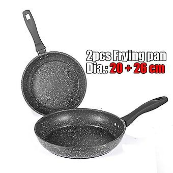 100% Stone Derived Non Stick Frying Pan - Coating 5 Layers Bottom With Soft Handle