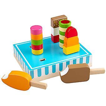 Bigjigs Hračky Dřevěné Ice Lízátka Hrát jídlo
