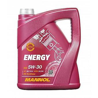 Mannol Energy 5L 5w30 Huile de moteur entièrement synthétique SL/CF Acea A3/B3 WSS-M2C913-B