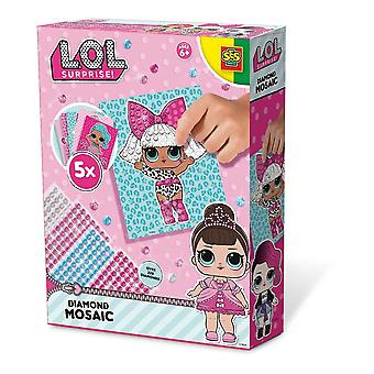 LOL Surprise Children's Diamond Mosaic Set 5 Cards Multi-colour (14195)