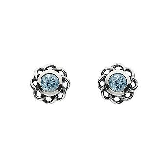 Heritage Mystic Birthstones March Twist Pendientes 3234MAR024