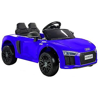 Elektrische kinderauto tweepersoons Audi R8 Spyder blauw
