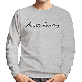 Austin Healey Handwriting Logo British Motor Heritage Men's Sweatshirt