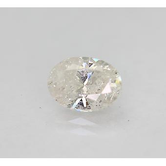 Certified 1.03 Carat F Color Oval Natural Loose Diamond For Ring 7.53x5.48mm