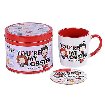 Friends Mug and Coaster gift tin set Youre My Lobster Logo new Official