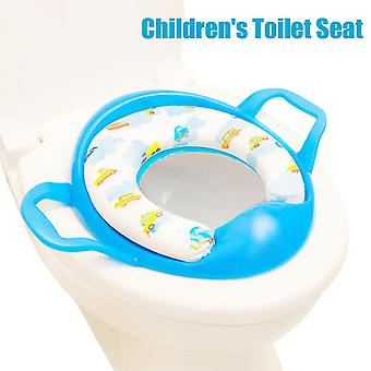 Soft Potty-training Potty Seat With 2-handles Splash Guard (blue)