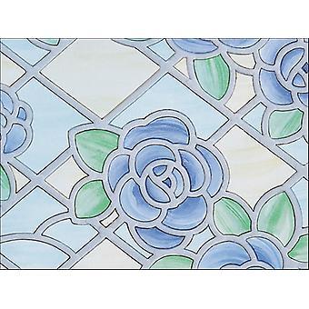 Fablon 67.5cm X 2m Window Amiens Blue FAB11836