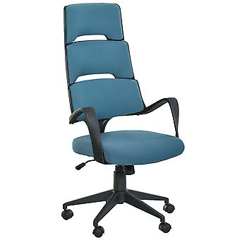 Vinsetto High Back Office Chair Work Executive 360 Swivel w/ 5 Castor Wheels Foam Padding Ergonomic Wide Arms Blue