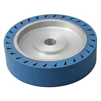 25mm Inner Dia Belt Grinder Rubber Wheel Flat Contact Wheel 200x50mm