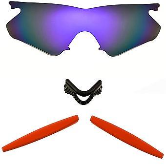 الاستقطاب استبدال العدسات عدة ل Oakley M الإطار سخان الأرجواني مرآة حمراء المضادة للخدش الأشعة فوق البنفسجية المضادة للوهج من قبل SeekOptics