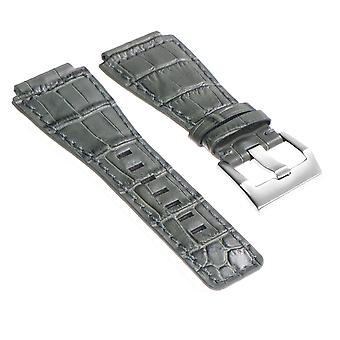 Strapsco dassari croc embossed leather strap for bell & ross