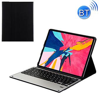 1198B Detachable Bluetooth 3.0 Aluminum Alloy Keyboard + Lambskin Texture Leather Case for iPad Pro 12.9 inch (2018), with Magnetic Charging / Sleep F
