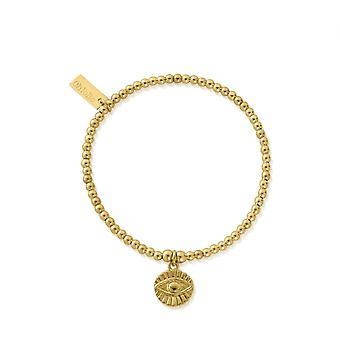 ChloBo Gold Cute Charm Evil Eye Sunray Bracelet GBCC2081