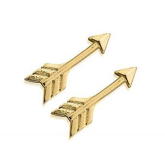 ChloBo GEST4001 Women's الذهب نغمة السهم الكفة الأقراط