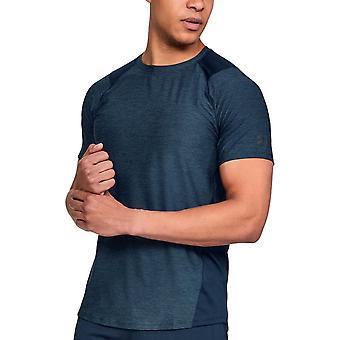 تحت درع MK-1 رجال ممارسة اللياقة البدنية التدريب تي شيرت قميص تي الأزرق