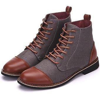 Tavaszi őszi alkalmi csipke up cipő, zsákmányt férfi bokacsizma, bőr