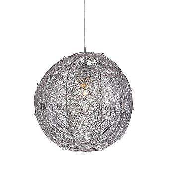 Italux Ness - Colgante moderno colgante plata 1 luz con sombra de aleación de metal, E27
