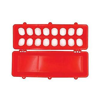 30Cm Long Poultry Feeder Feeding Trough Chicken Chick Red Plastic