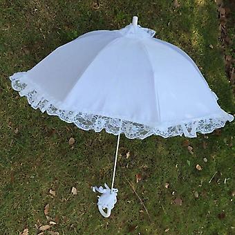 Wedding Bridal Parasol Umbrella Hollow Lace Romantic Photo Props Decorative