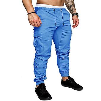 Casual Solid Color Cotton Elastic Long Trousers Pantalon Homme Military Cargo