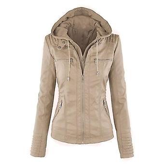 Autumn/winter Faux Soft Leather Jackets Coats Lady Pu Zipper Motorcycle