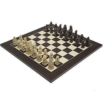 Berkeley sjakk egyptiske Russet og Wenge Chess Sett