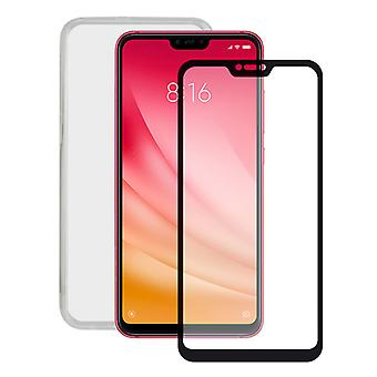 Tempered Glass Mobile Screen Protector  Mobile Case Xiaomi Mi 8 Lite Contact