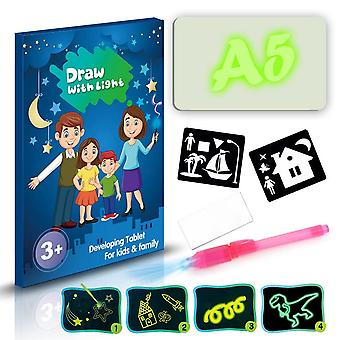 Led Light Up Drawing Kit, Portable Draw Sketchpad Board