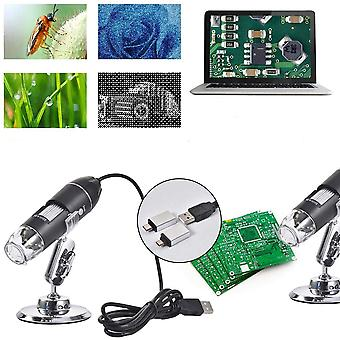 3 in 1 1600X Zoom 8 LED Microscope Digital Magnifier Endoscope Camera