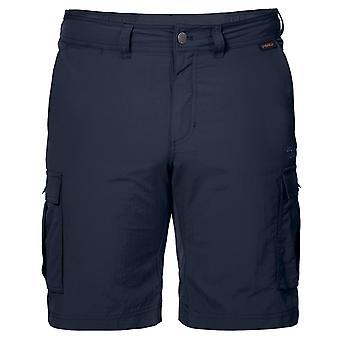 Jack Wolfskin Herre Canyon Cargo Shorts Casual Pants Navy 1504201 1010