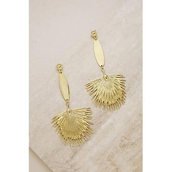 Havana Fan 18k Gold Plated Earrings