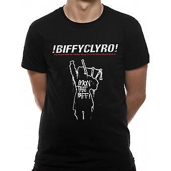 Biffy Clyro Unisex Adults Mon The Biff! Design T-Shirt