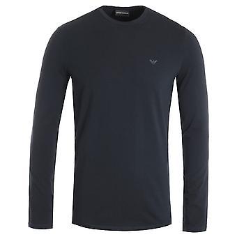 Emporio Armani Eagle Logo Long Sleeve T-Shirt - Navy