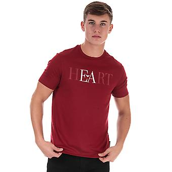 Heren's Armani Logo T-shirt in rood