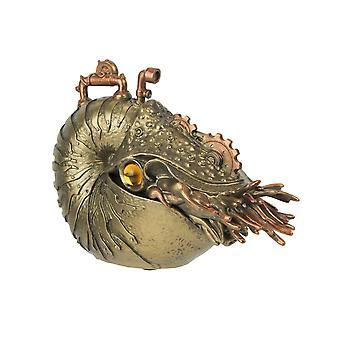Brons / Koper afgewerkt Steampunk Nautilus Sea Monster Fantasy Tafelblad Standbeeld