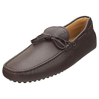 TOD'S Gommino Mens Loafer Shoes in Dark Brown