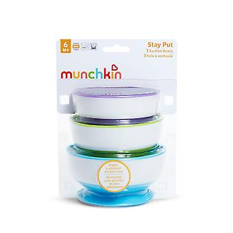 Munchkin rester mettre bols d'aspiration 3pk