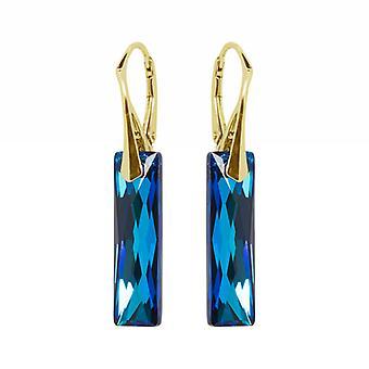 Oorbellen conoció a Swarovski Kristallen Bermuda Azul - Zilver Goudkleurig