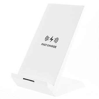 Universell 30w qi trådløs lader horisontal vertikal type-c dobbel spole ladepute stativ dock mobiltelefon holder stativ