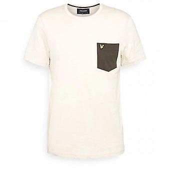 Lyle & Scott Contrast Pocket Crew Neck T-Shirt Sesame/Trek Green TS831V