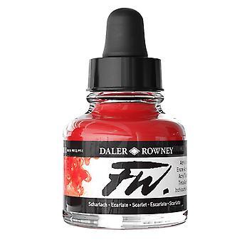 Daler-Rowney FW Artists Acrylic Ink 29.5ml Scarlet