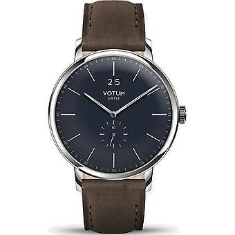 VOTUM - Reloj Unisex - VINTAGE - VINTAGE - V09.10.21.03 - correa de cuero - marrón oscuro