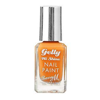 Barry M Gelly Hi Shine Nail Paint - Mandarin