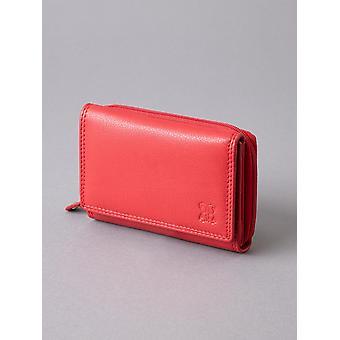 12,5 cm nahka käsilaukku punainen