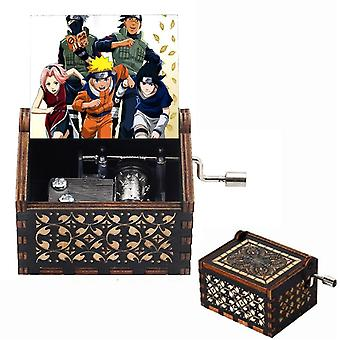 Anonymity Wooden Hand-crafted Jack Sparrow Plays Melody Davy Jones Music Box
