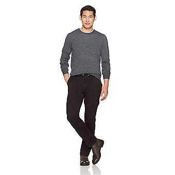 Goodthreads Men's Straight-Fit Washed Stretch Chino Pant, Black, 36W x 34L