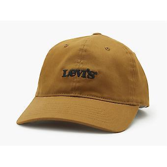 Levi's Męski regulowany Flexfit Cap ~ Vintage Logo khaki