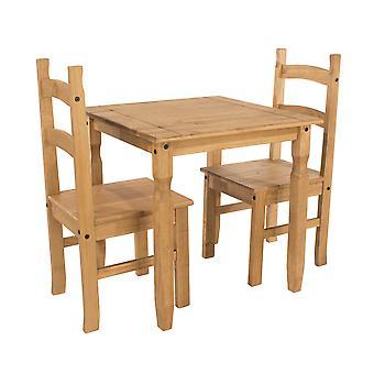 Caladonea Square Table & 2 stolsset