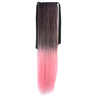 Gradient Ramp Horsetail Lace-up Straight Wig